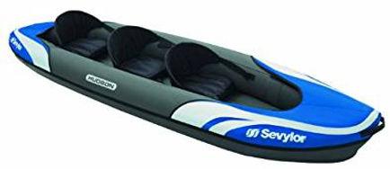 sevylor hudson 3 person Kayak, inflatable kayaks, best inflatable kayaks, top inflatable kayaks, family inflatable kayaks, inflatable kayaks for 2, travel presents travel gifts, inflatable kayaks for 4, cheap inflatable kayaks