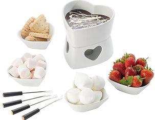heart shaped fondue set, fondue sets, cheese fondue sets, chocolate fondue sets, best fondues, best fondue sets, popular fondue sets, cheap fondue sets, fondue fork, enamel fondues, home baking gifts, gifts for bakers, baking gifts, baking presents