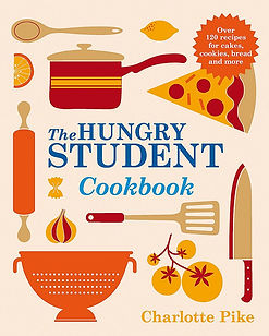 the hungry student cookbook charlotte pike, student cookbooks, best student cookbooks, university cookbooks, university recipe books, student recipe books, home baking gifts, gifts for bakers, baking presents, baking gifts