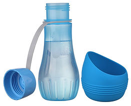 dog water bottle with removable bowl