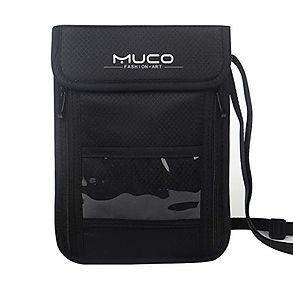 MUCO Neck Travel Hidden Wallet Passport Holder
