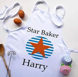 children's star baker apron