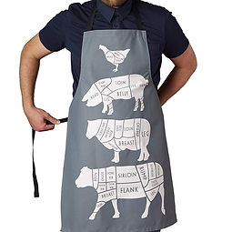 cuts of meat apron