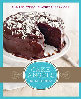allergy free cake cookbook, allergy free baking book, cake angels julia thomas, allergy free recipes, baking books, baking presents home baking gifts