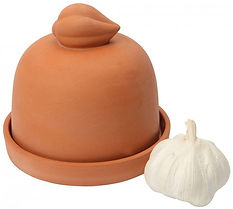 terracotta garlic pot