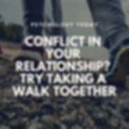 Conflict in Your Relationship? Try Taking a Walk Together