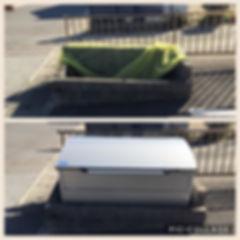 ゴミ置き場の組立、設置はお任せください。アンカー止めすることにより強風で飛ばされる心配がありません。