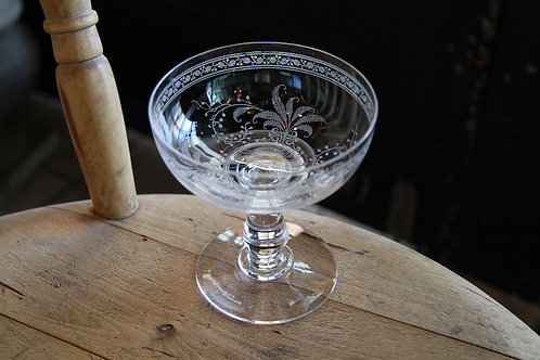 "BACCARAT  GLASS  CHAMPAGNE COUPE "" FOUGERES"""