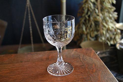 BACCARAT  GLASS  ML   GRAVURE 花紋様