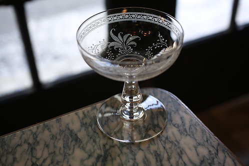 BACCARAT  FOUGERES  CHAMPAGNE COUPE