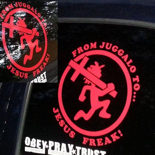 Red Jesus Freak Car Vinyl Decal