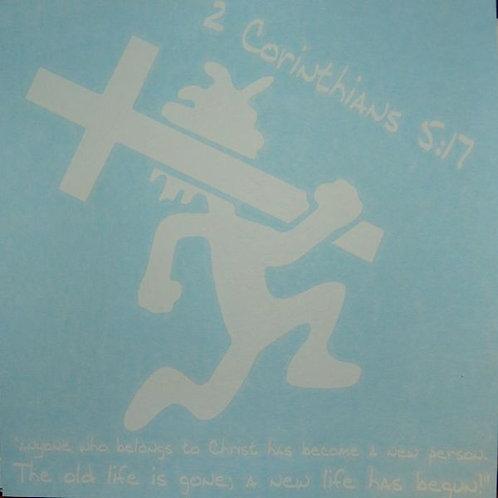White CrossManCar Vinyl Decal