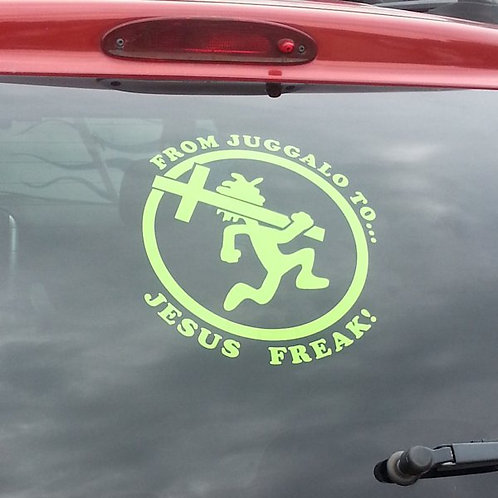 Green Jesus Freak Car Vinyl Decal