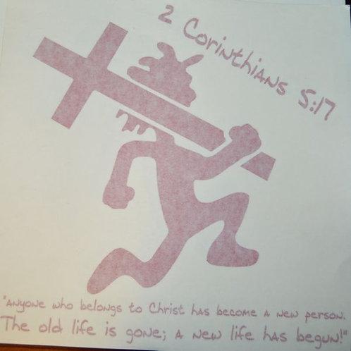 Red CrossManCar Vinyl Decal