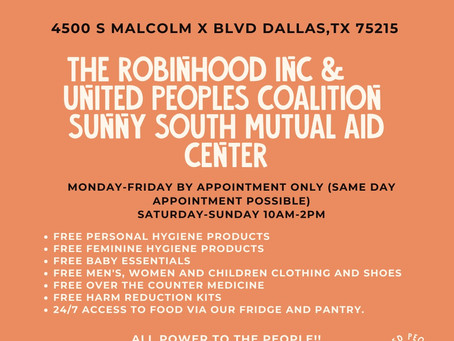 Sunny South Mutual Aid Center is Now Open!