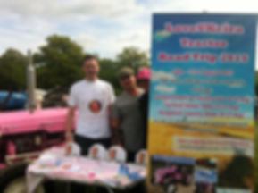 The LoveUKeira Tractor Road Trip team promoting the run at The Blindley Heath Show
