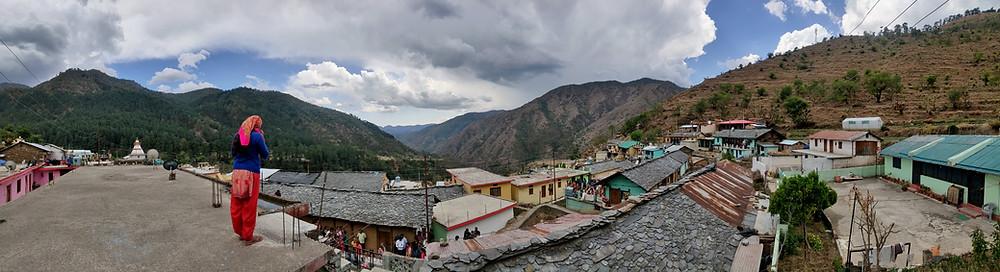 Uttarakhand Villagae. Landscape view. Mountainscape. Local culture. Homestays in Uttarakhand. Rural slow tourism.