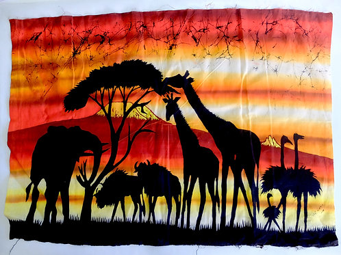 Batik tramonto Tanzania