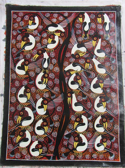 Tinga Tinga rosso e bianco- Tanzania