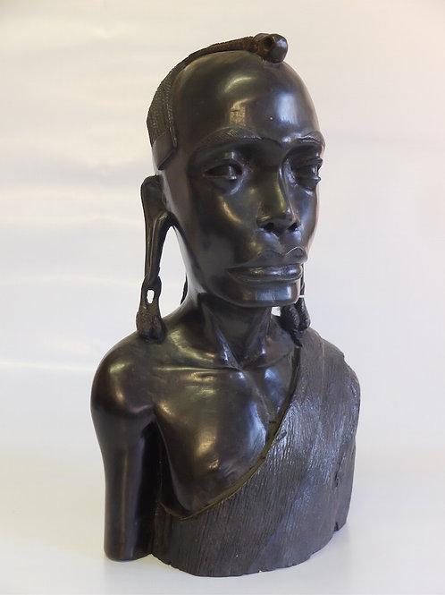 Statua Mezzo Busto in Ebano dalla Tanzania
