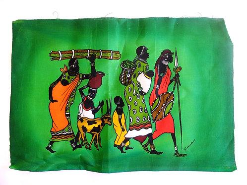 Batik Masai verde dal Kenya
