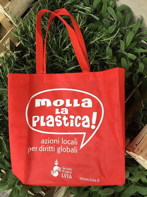 """Borsa shopper """"Molla la plastica!"""""""