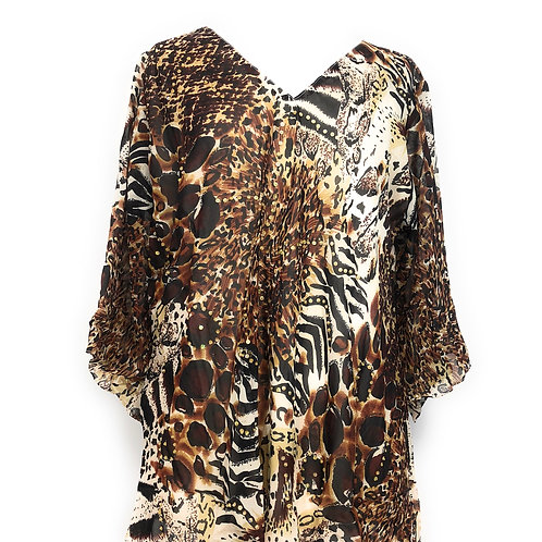 Ladies Plus size Embellished Polyester Tunic Top