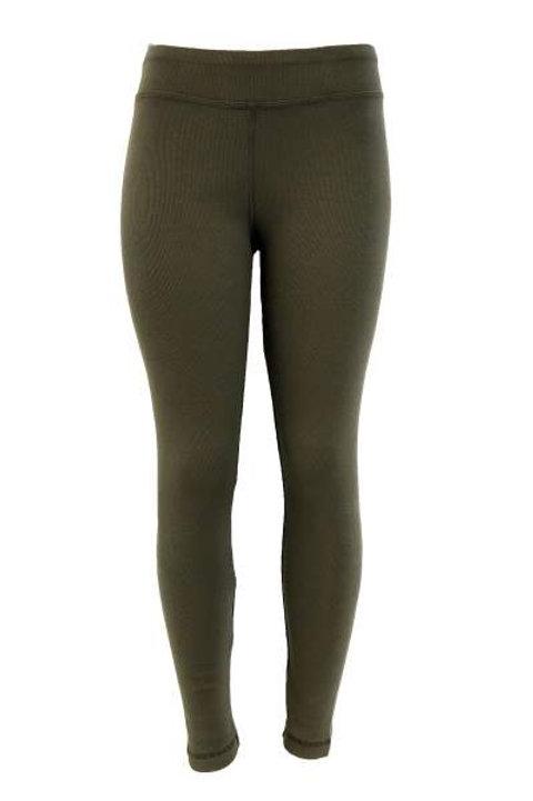 Ladies Cotton Spandex Ribbed Pants - Light City Sage
