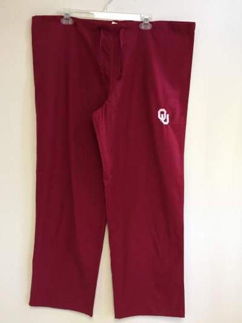 Oklahoma Crimson Sooners Unisex Scrub Pants