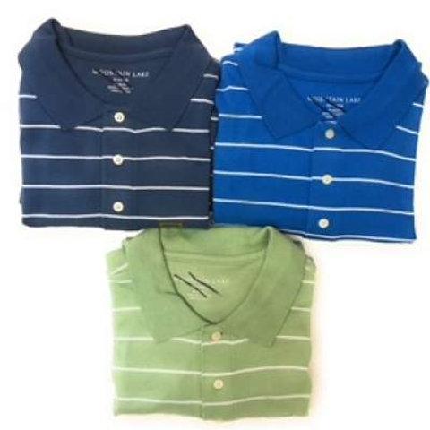 Big Men's 100% Combed Cotton Polo Stripes Shirt