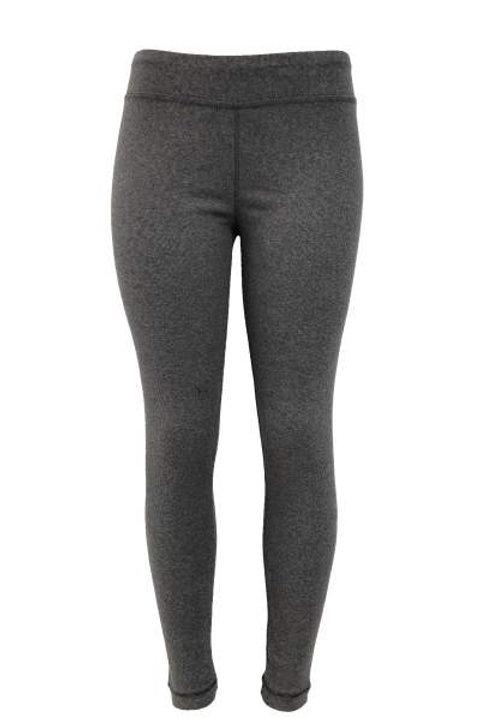 Ladies Cotton Spandex Ribbed Pants - Heather Grey