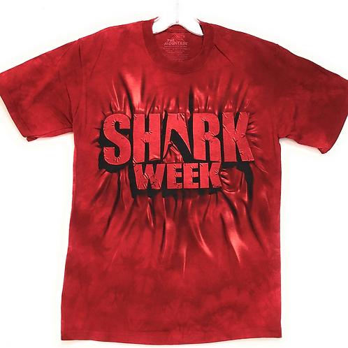 The Mountain Men's 100% Cotton Aqua Shark Week T-Shirt