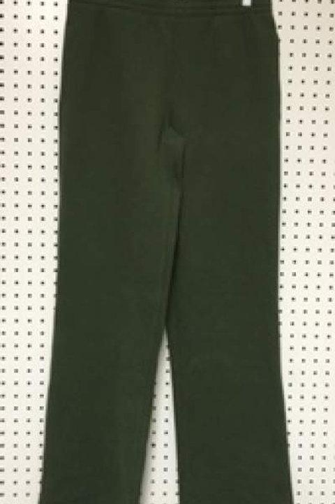 Ladies Cotton Poly 2 Pocket Fleece Pants Military Green