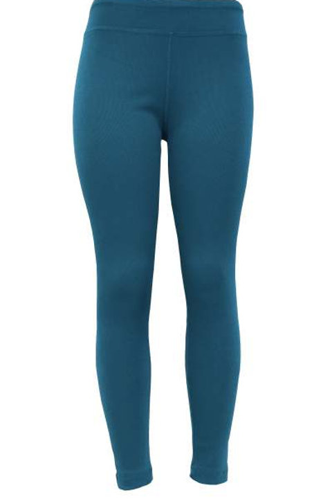 Ladies Cotton Spandex Ribbed Pants - China Blue