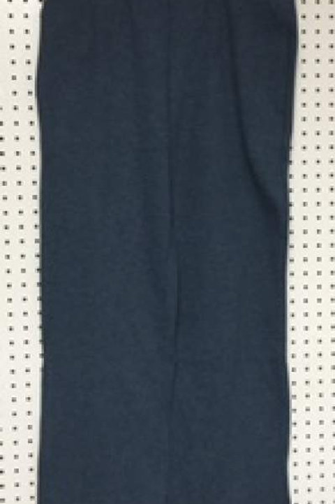 Ladies Cotton Poly 2 Pocket Fleece Pants DK Blue Heather