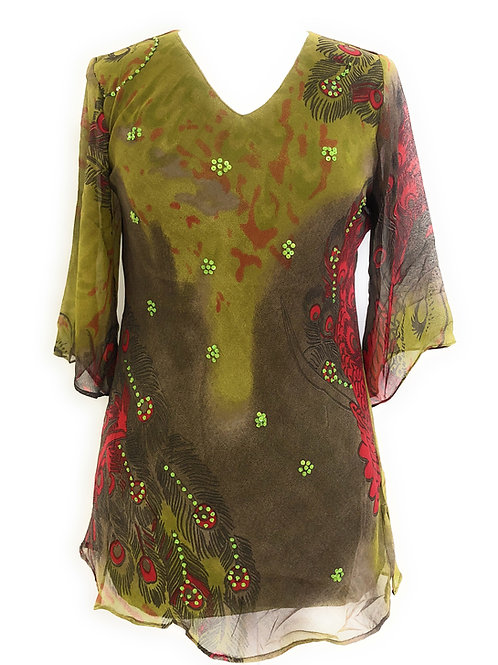 Ladies Missy Embellished Polyester Tunic Top