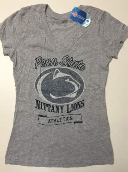 Penn State Nittany Lions Printed T-Shirt - Grey Heather.