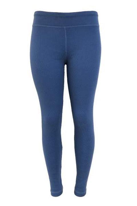 Ladies Cotton Spandex Ribbed Pants - True Blue