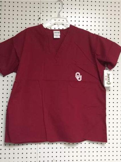 Oklahoma Sooners Crimson Unisex Scrub Top