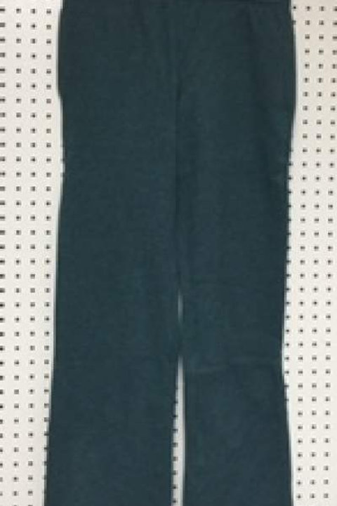 Ladies Cotton Poly 2 Pocket Fleece Pants Blue Denim
