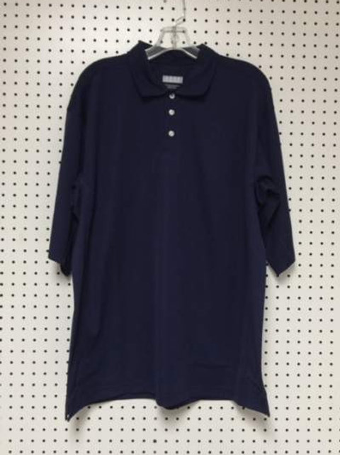 Starter Men's 100% Polyester Navy Polo Golf Shirt