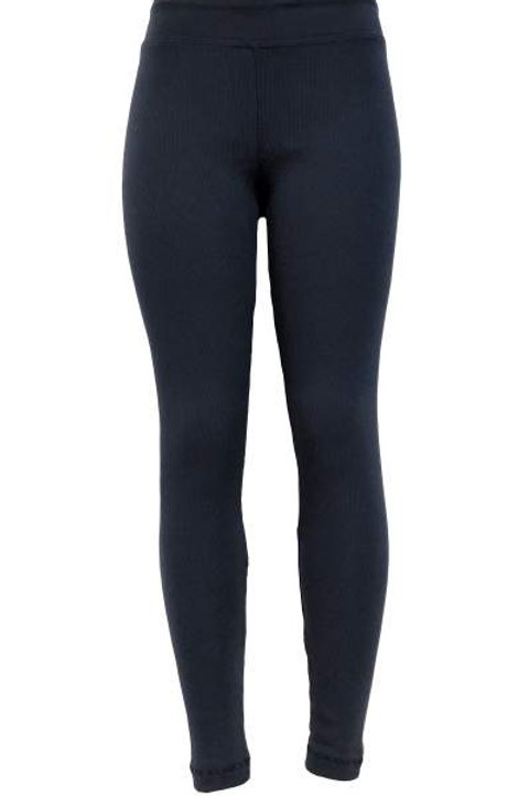 Ladies Cotton Spandex Ribbed Pants - Midnight