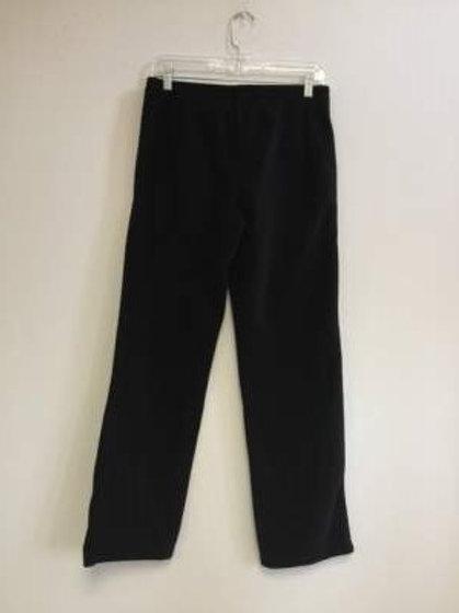 Ladies 100% Polyester Polar Fleece 2 Pocket Pants - Black
