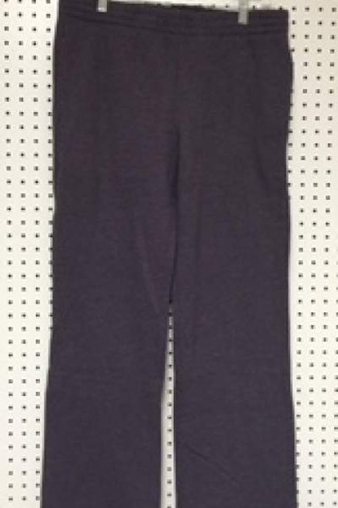 Ladies Cotton Poly 2 Pocket Fleece Pants Purple