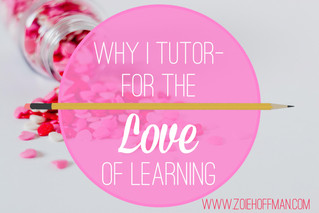 Why I Tutor- For the Love of Learning