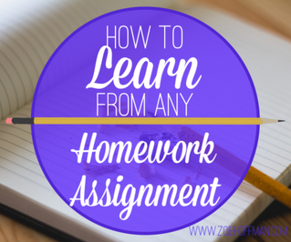 How to Learn From Any Homework Assignment