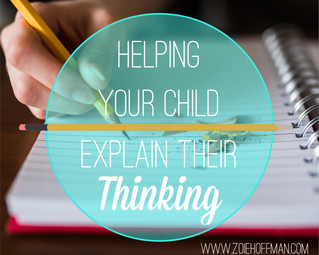 Helping Your Child Explain Their Math Thinking