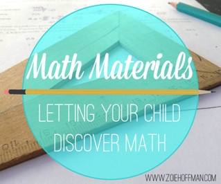 Math Materials- Letting Your Child Discover Math