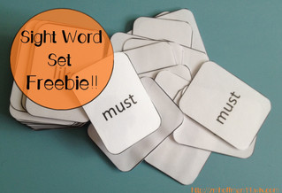 Sight Word Sets Freebie