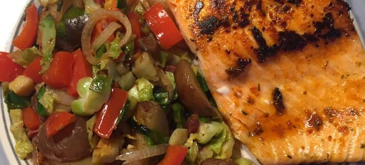 Steelhead Trout and Vegetables